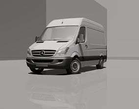 3D model Mercedes-Benz Sprinter L2H2 Van 2010