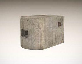 3D asset Small bunker