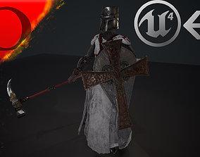 3D asset woman knight