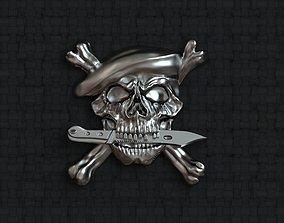 3D print model Paratroopers skull emblem