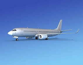 3D model Boeing 737-800 Bare Metal