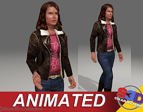 Monica-teen Animated 3D asset realtime