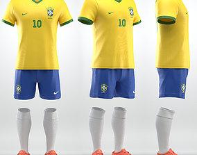 Soccer team uniform 3D model