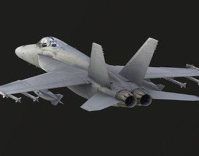 Boeing F18E Super Hornet 3D asset