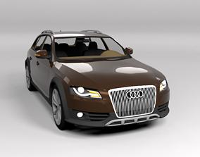 3D asset AUDI A4 ALLROAD 2010 LOWPOLY
