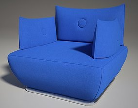 Dunder S600 sofa blu Mental Ray 3D model