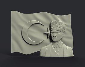 Mustafa Kemal Ataturk turkiye 3D print model