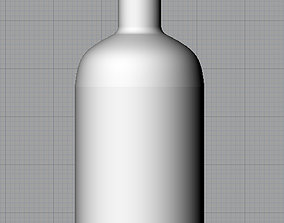 empty 3D Glass bottle