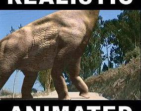 animated Brachiosaur Jurassic Park - 3d model a
