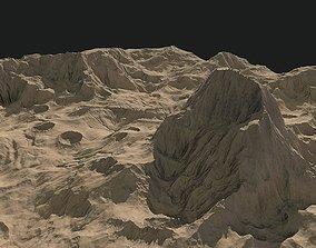 Tileable sci fi moon landscape environment game-ready