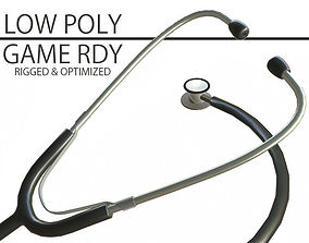 3D model Low Poly Stethoscope