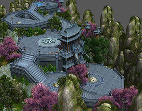 3D model game-ready scene for game