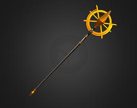 Magic Staff - Golden X 3D model