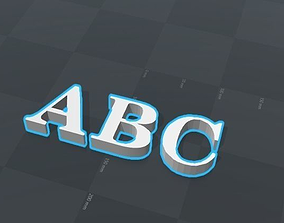 3D print model ABC letters alphabet