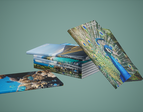 3D model Magazines Set Low Poly Game Ready