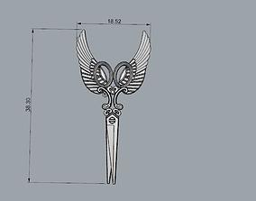 scissors pendant 3D printable model