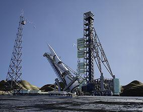 3D N-1 Rocket Launch Pad