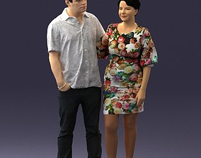 Couple in casual wear 0016 3D Print Ready