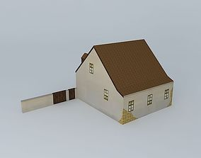 3D asset Small House 19th century
