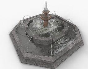 Public Water Fountain 3D