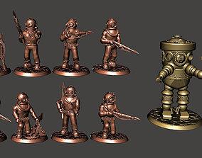 3D printable model 28mm Wargames or RPG Deep Sea Divers 2