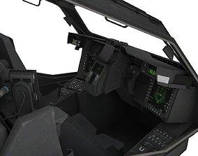 3D model Apache Cockpit