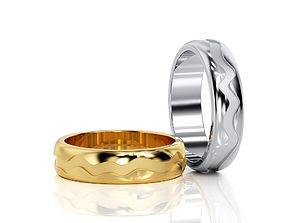 3D print model band Wave Ring Band R BA 0003