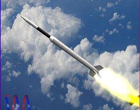 Aerobee 300A Rocket 3D