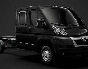 Peugeot Boxer Manager Chassis Truck Crew Cab 3D model 2