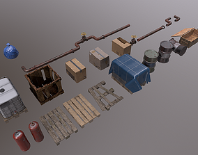 3D model Trash Asset Replenishment every week