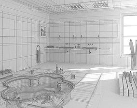 3D Spacious Bathroom With Jacuzzy