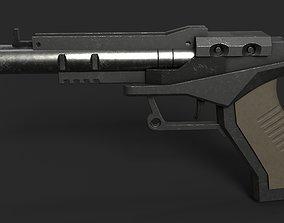 3D asset Blaster Pistol