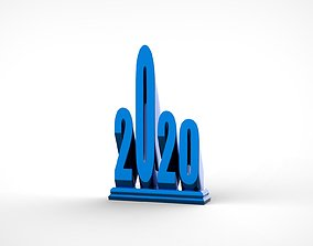 3D print model 2020 Salute Award Participation Trophy