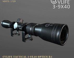 cvlife tactical 3-9x40 optics r4 3d models game-ready