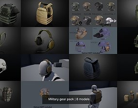3D Military gear pack game
