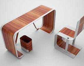 3D model Modern Desk and Chair