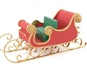 3D model Santa Claus Sleigh