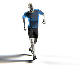 3D model Footballer Edged Rigged