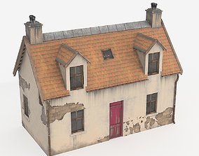 3D model low-poly Old House mossy