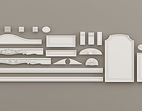 3D Elements of design windows and doorways Decorative