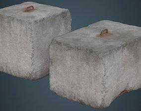 3D model Concrete Barrier 4C
