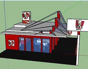 kfc restraunt 3D model