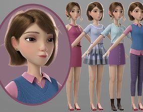 Cartoon Girl 3D