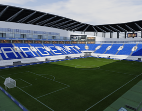 3D model Ghelamco Arena Arteveldestadion Ghent Belgium