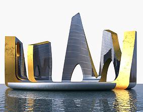 3D model Skyscraper 03