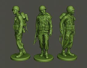 3D printable model American soldier ww2 walk A2