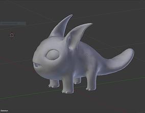 3D asset Alien Creature 2 base Mesh