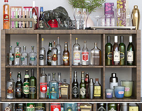 3D Alcohol set