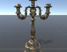 3D model Silk silver candlestick