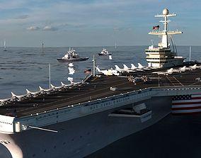 Aircraft Carrier - Nimitz-class nuclear-powered 3D model 1